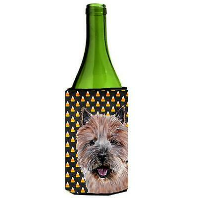 Norwich Terrier Candy Corn Halloween Wine bottle sleeve Hugger 24 Oz.