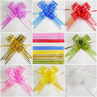 Large 30mm Organza Pull Bows - 8 Colours - 1,5,10 pack options - 3 for 2 - Gifts