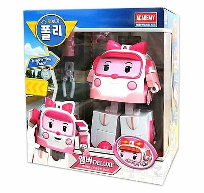 Deluxe Robocar Poli Toy - Amber (Transformer)-Limited Edition