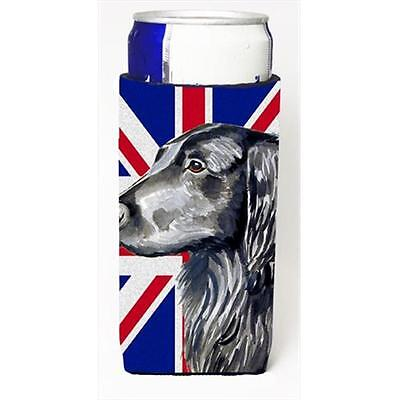 Flat Coated Retriever With English Union Jack British Flag Michelob Ultra bot...