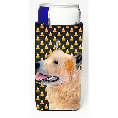 Australian Cattle Dog Candy Corn Halloween Portrait Michelob Ultra bottle sle...