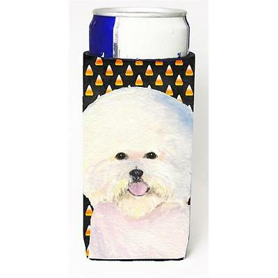 Bichon Frise Candy Corn Halloween Portrait Michelob Ultra s For Slim Cans 12 oz.