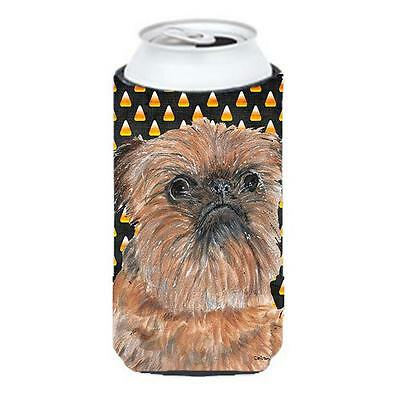 Brussels Griffon Halloween Candy Corn Tall Boy bottle sleeve Hugger