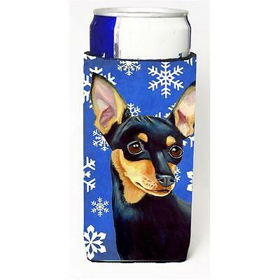 Min Pin Winter Snowflakes Holiday Michelob Ultra bottle sleeves For Slim Cans...
