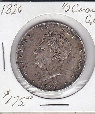 1826 1/2 Crown GB .925 Silver