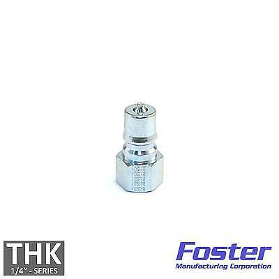 "Foster FHK Series 1/4"" K2S Steel ISO B Hydraulic Quick Connect Coupler Plug USA"
