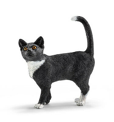 Schleich 13770 Cat Standing Model Toy Animal Figurine - NIP