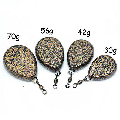 Carp fishing Accessories Lead Sinkers with Swivel Textured Lead Weights