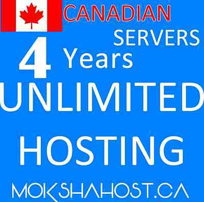4 Years Unlimited SSD Hosting, Canadian, cPanel and Softaculous, Multi Provider