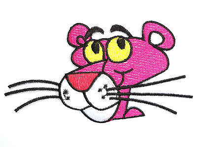 """Pink Panther Iron On Cartoon Embroidered Shirt Bag Applique Badge Patch 4.7"""""""