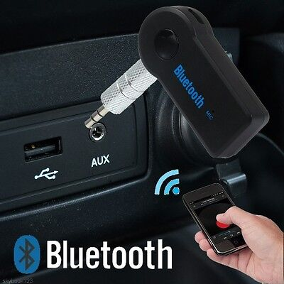 Home Car Wireless Bluetooth Receiver 3.5mm AUX Audio Stereo Music Adapter + Mic