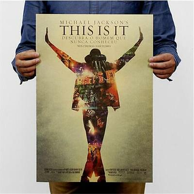 Retro Michael Jackson kraft paper movie poster Removable wall Decor Wall decals
