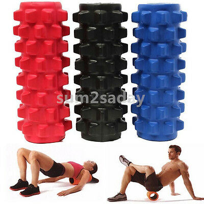 Yoga Foam Roller Injury Physio Gym Muscle Trigger Point Grid Massage Textured SA