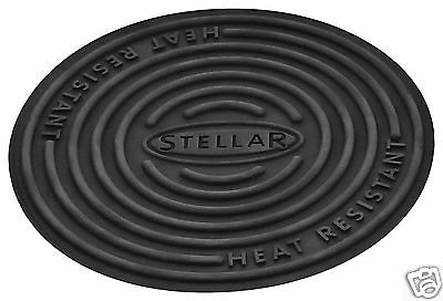 Stellar Silicone Round Trivet Mat Hot Pot Stand Black Heat Resistant SK95 SK96