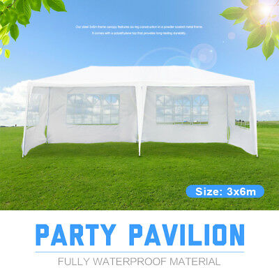Sale OUTT 3x6M GAZEBO PARTY WEDDING TENT EVENT MARQUEE OUTDOOR PAVILION White