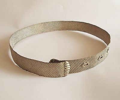 late 19c. ANTIQUE WEAVED WOVEN UNKNOWN LOW PURITY SILVER MILITARY BELT