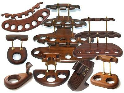 Wooden Handmade Smoking Pipe Stand Rack Holder Accessories Display for pipes