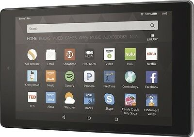 """Amazon - Fire HD8 - 8"""" - Tablet - 16GB - Wi-Fi - Black Incl. Special Offers"""