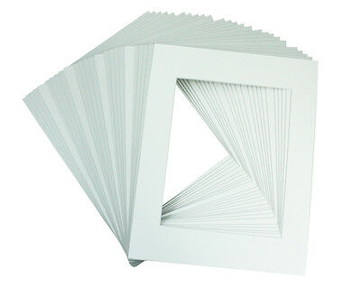 Mat Board Center, Set of 25, 11x14 White Picture Mats  for 8x10 Photos