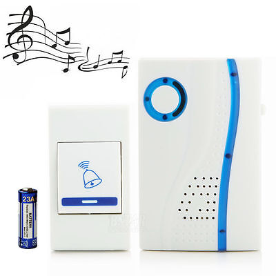 Wireless/Cordless Single Doorbell With Remote Control 100M 32 Melodies