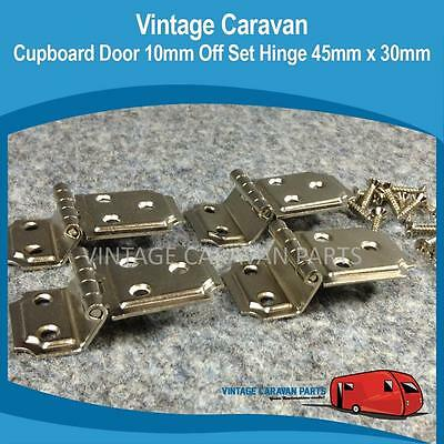 Caravan CUPBOARD DOOR 10MM OFFSET HINGE 45MM X 30MM 4PIECE Vintage