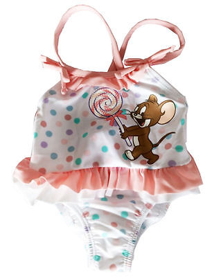Newborn Infant Baby Girls One Piece Swimwear Dot Mouse Swim Suit Swimsuit 0-3T