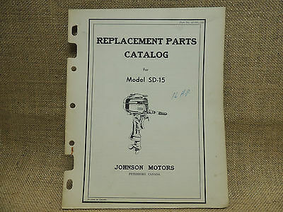 1946 1948  Johnson Sea Horse Parts Catalog Models SD-15   16 horse