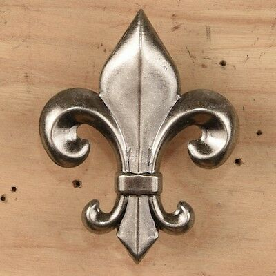 Large Fleur de Lis Tack ~ PEWTER Decorative Upholstery Nail { Set of 4 } by PLD