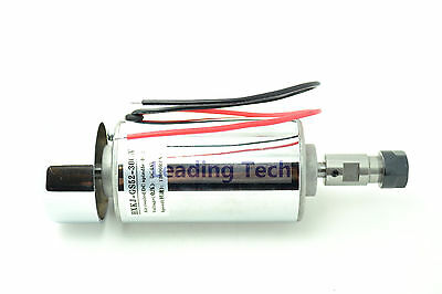 DC Spindle Motor 52mm 300w 3000~12000R CNC Engraver 12V-48V Cutter Marker w/ Fan