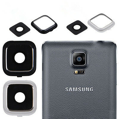 New Camera Frame Holder + Glass Lens Cover Protector For Samsung Galaxy Note 4