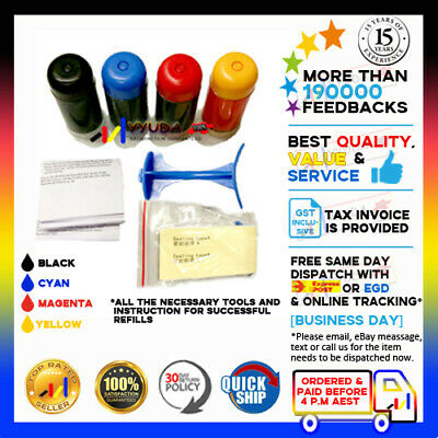 4pcs Refill kit for Canon PG-645 XL & CL-646 XL ink cartridges MG-2560 printer