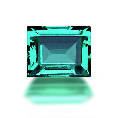 Lab Created Hydrothermal Colombian Emerald Baguette Loose stone (4x2-12x10mm)
