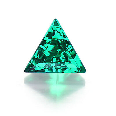 Lab Created Hydrothermal Colombian Emerald Triangle Loose stone(3x3mm - 12x12mm)