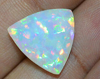 Lab Created Synthetic White Opal Trillion Cabochon AAA Loose stone (4x4-12x12mm)