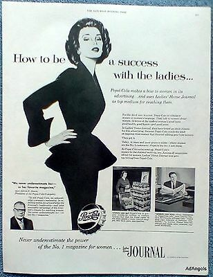 1955 Pepsi Cola Ladies Home Journal Success With The Modern Ladies ad