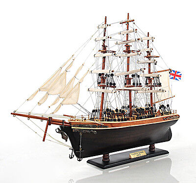 """Cutty Sark China Clipper Tall Ship  22"""" Built Wooden Model Boat Assembled"""
