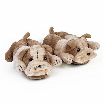 Bulldog Animal Slippers - Dog Slippers - Adult & Kids Sizes In Stock