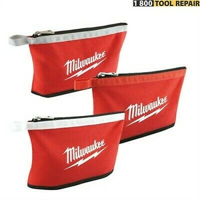Milwaukee 3pk Color Coded Zipper Pouches 48-22-8193