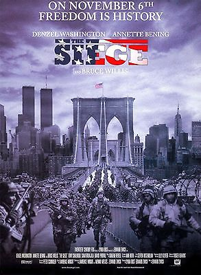 The Siege Original Movie Poster 2 Sided DS 27x40 New Mint Condition