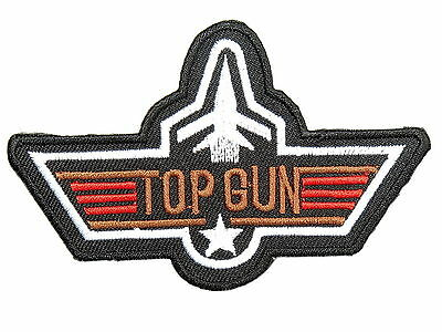 """Top Gun Navy Fighter Pilot Fancy Dress Embroidered Iron on Badge Patch 4"""""""