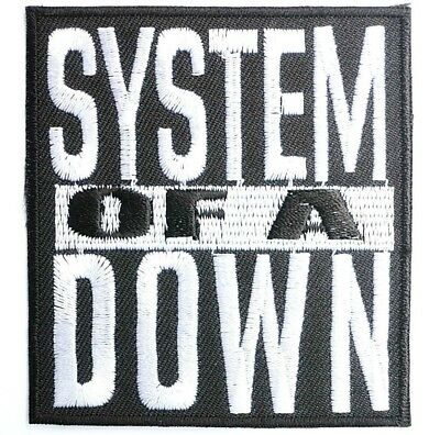 """SYSTEM OF A DOWN Rock Heavy Metal Iron On Sew On Jacket Patch 2.9"""""""