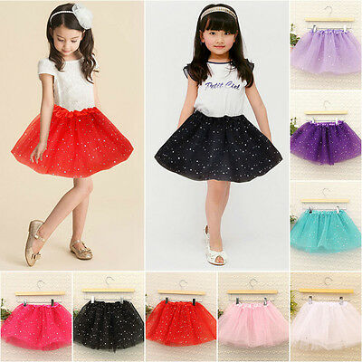 Baby Girl Tutu Skirt Star Sequins Princess Party Ballet Dance Dress 8 Color Hot