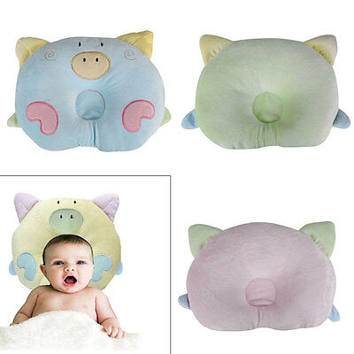 Cute Pig Piggy Pillow Newborn Infant Baby Support Cushion Pad Prevent Flat Head