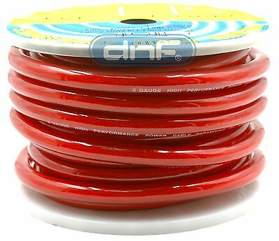 0 Gauge 100% Copper OFC Red Power Ground Cable Wire 25 Feet FT - FREE PRIORITY!