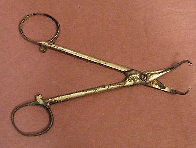 Vintage Old Medical Instrument Tool Forceps Tweezers