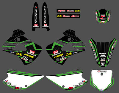 TEAM GRAPHICS BACKGROUNDS DECALS For KAWASAKI KX85 KX100 KX 1998-2013 D6