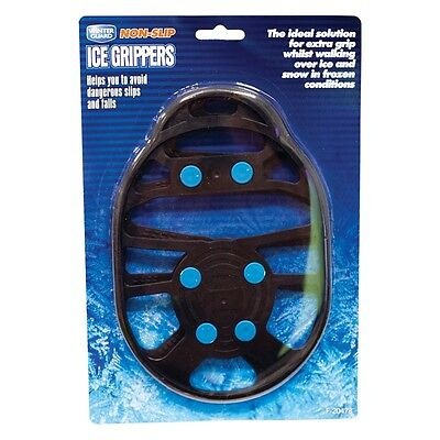 Pair Ice Snow Ant Slip Spikes Grippers Grips Cleats Shoes Overshoe - T