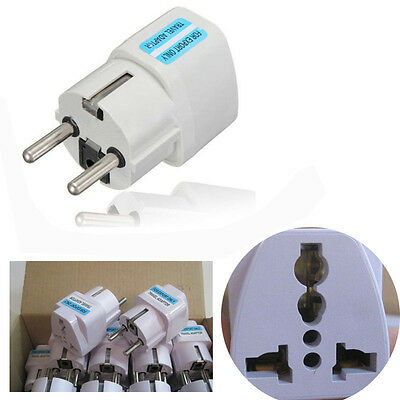 Universal AU/ UK/US to EU/AC Power Socket Plug Travel Charger Adapter Converter
