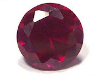 Synthetic Lab Created Dark Red Ruby AAA Corundum Round Loose stone (3mm-15mm)