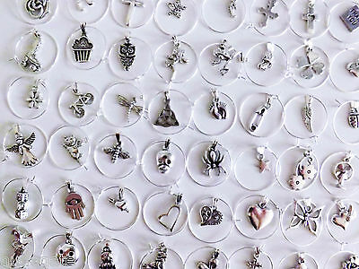 50 Mixed Wine Glass Charms